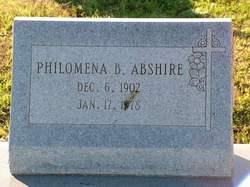 Philomena B Abshire