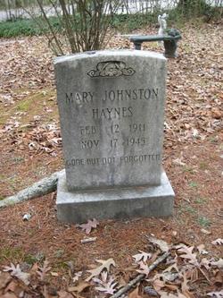 Mary <i>Johnston</i> Haynes