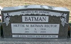 Hettie M <i>Rector</i> Batman, Batman