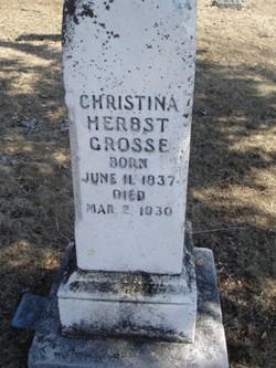Christina <i>Herbst</i> Grosse