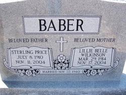 Lillie Belle Sallie <i>Wilkinson</i> Baber