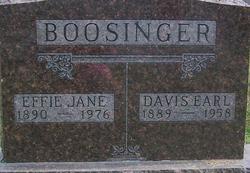Effie Jane <i>Browning</i> Boosinger