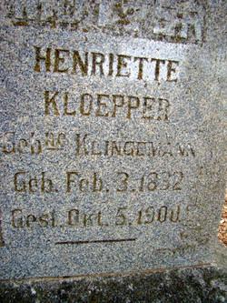 Henriette <i>Klingemann</i> Kloepper