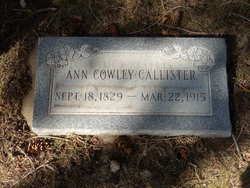 Ann <i>Cowley</i> Callister