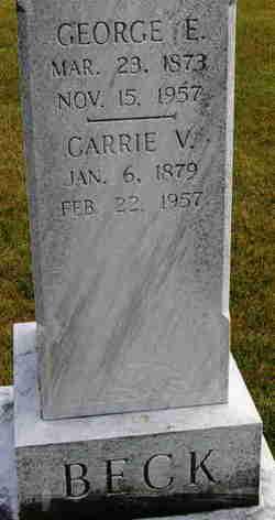 Carrie Virginia <i>Kleinfelter</i> Beck