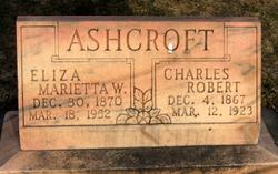 Eliza Marietta <i>Woolf</i> Ashcroft