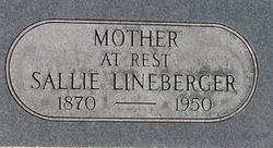Sarah A Sallie <i>Green</i> Lineberger