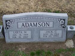 Loeta Matilda <i>McBroom</i> Adamson