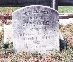 Jane <i>Milstead</i> Cole