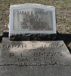 Sara E. <i>Myrick</i> Brooks