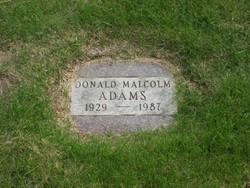 Donald Malcolm Adams