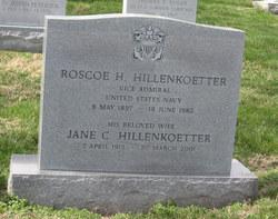 Adm Roscoe Henry Hillenkoetter