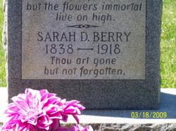 Sarah Demandy Sallie <i>Carden</i> Berry