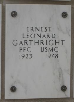 PFC Ernest Leonard Garthright