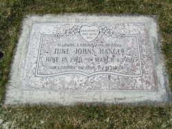 June Gwendolyn <i>Johns</i> Hanger