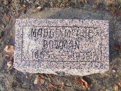 Marcella Madge <i>McCue</i> Bowman