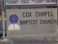 Cox Chapel Baptist Church Cemetery