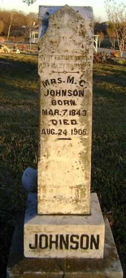 Mrs M. C. <i>Andrews</i> Johnson