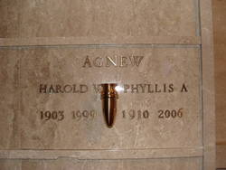 Phyllis A <i>Westrup</i> Agnew