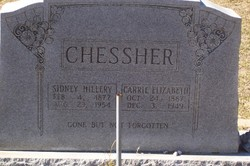 Carrie Elizabeth <i>Ellis</i> Chessher
