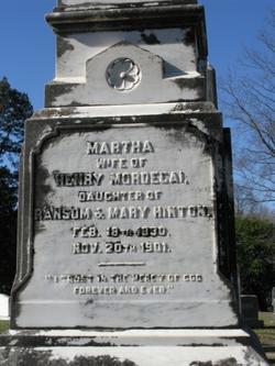 Martha Ann <i>Hinton</i> Mordecai