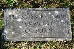 Julia <i>Sansbury</i> O'Bryan