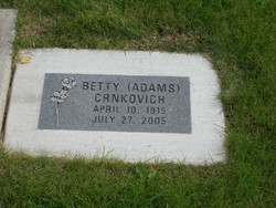 Betty <i>Adams</i> Crnkovich