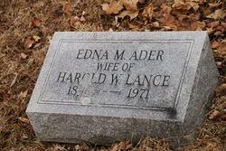 Edna M <i>Ader</i> Lance