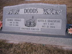 Aletta E <i>Shakespeare</i> Dodds