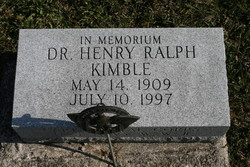 Dr Henry Ralph Kimble