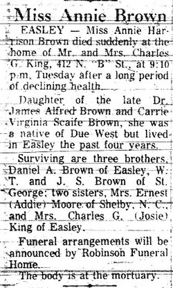 Annie <i>Harrison</i> Brown