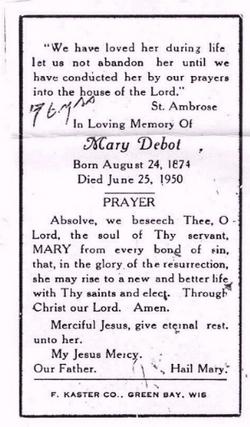 Marie <i>Neerdaels</i> DeBot