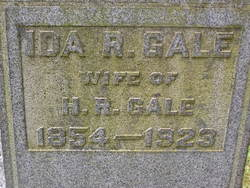 Ida R. <i>Burdick</i> Gale