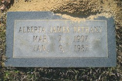 Alberta <i>James</i> Bethany