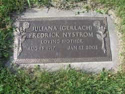 Juliana Fredrick <i>Gerlach</i> Nystrom