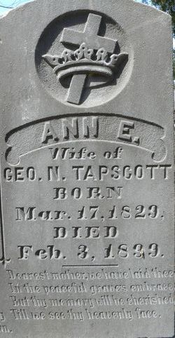 Ann Elizabeth <i>Scruggs</i> Tapscott