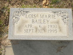 Lois Marie <i>Banks</i> Bailey