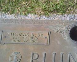 Thomas Benson Plunkett, Sr