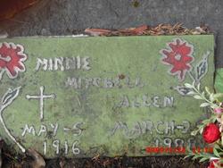 Minnie Emma <i>Grissom</i> Allen