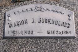 Marion J Burkholder