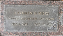Kathryn Grace <i>Perry</i> Miles