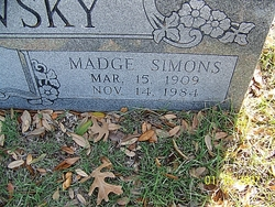 Madge <i>Simons</i> Bordovsky