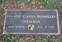 Frances Joanna <i>Nunnelley</i> Ockerman