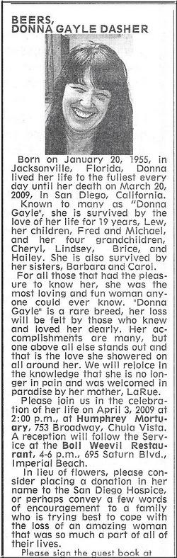 Donna Gayle <i>Dasher</i> Beers