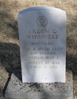 Arden G Whinnery
