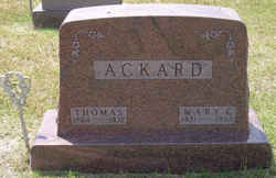 Mary Elizabeth <i>Hess</i> Ackard