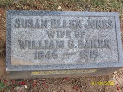 Susan Ellen Ella <i>Jones</i> Baker