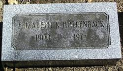 Elizabeth Sara <i>Kutz</i> Hollenback