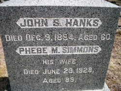 Phebe M. <i>Simmons</i> Hanks