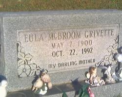 Eula Arizona <i>McBroom</i> Grivette